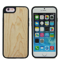 Shock proof wood phone case for iPhone 6 for iPhone 6s tpu wood case