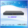 Communication Equipment Fiber Optic Switch 8 Port POE Switch 100mbps speed provide 30W for each port