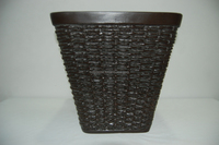Square Rattan Cheap&High Quality PE Gardening Plastic Flower Pot