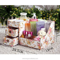 2 drawer woodiness desktop cosmetics dressing boxes, jewelry boxes, jewelry box,hot selling and top quality special storage box