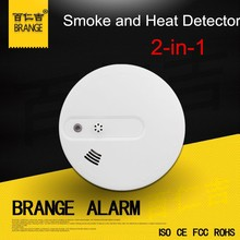 High Sensitive Fire Alarm Stand lone high voltage detector alarm Smoke And Heat Detector