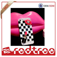 Rhinestone lip shape bling mobile cover for iphone