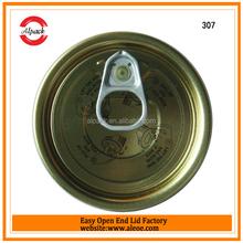 Standard quality 307# food grade tinplate can lid
