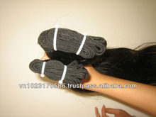 """hightest quality wefted hair 5A'' virgin vietnam"""""""
