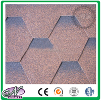 2015 cheap construct roofing material coloured glaze 3 tab asphalt shingles made in China