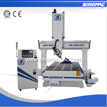 cnc 4 axis router 180 degree Sinomac S2-1325-ATC cnc automatic tool change
