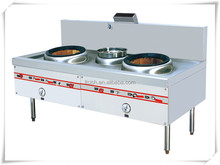 Gas 2-Wok with 1-Sink Chinese Stove