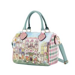 makeup product design shopping handbags shoulder bags with horse design nylon handbags online shopping