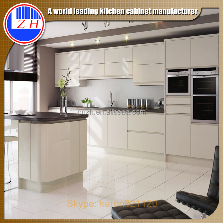 Flat Pack Modern White Acrylic Cabinet For Small Kitchens Buy