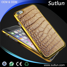 Luxury Genuine Leather Phone Back Cover Case For Apple iPhone 6S Crocodile Skin For Apple iPhone 6S