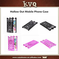 hollow out plastic silicon phone case for ZTE Axon back case