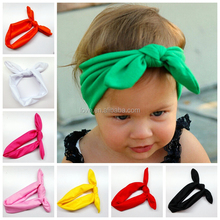 Solid Color Rabbit Ear knot headband, Boutique cotton baby knot headband wholesale