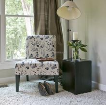 Phaedra Floral Watercolor Modern Slipper Chair