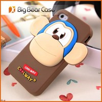 3d silicon animal case silicone phone case for iphone/samsung/others