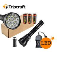Super Bright 11000LM TrustFire LED Flashlight Torch 9 *XML T6 11000 Lumen 5 Switch Modes White Light Outdoor flash light