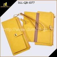 New design purse for iphone 6 wallet case, genuine leather wallet leather for travelling