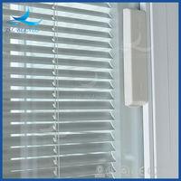 Factory price double glass door with venetian blinds