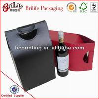 China Custom Luxury leather wine carrier