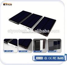 5000mah High Capacity Solar Panel 5V Portable Charger External Battery solar power bank for laptop