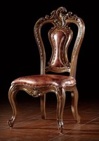 BISINI Luxury Antique Hand Carved Wooden Dining Chair