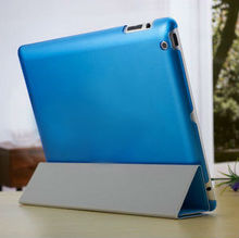 2015 Wholesale Excellent quality hot luxury blue stand pu leather flip case for mini ipad