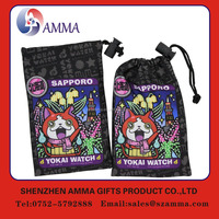 Low cost promotional customized microfiber camera cleaning pouch/bag with drawstring