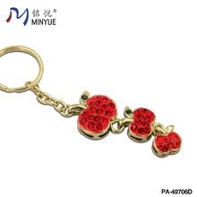 Red crystal apple shape keychain