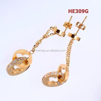 alibaba in spanish 2015 new fashion gold`plated`earrings