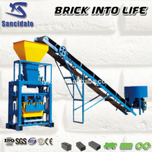 QT40-1pan mixer with block making machine price