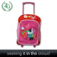 color bonito bolso de escuela los niños backpck más barato bolso de la carretilla