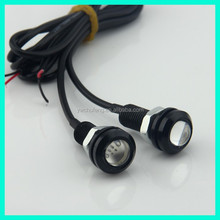10pcs/lot DIY Car Parking Lights Eagle Eye Led Light 1.8cm 12V 9W Waterproof Eagle Eye LED Daytime Running Lights 6 Colors