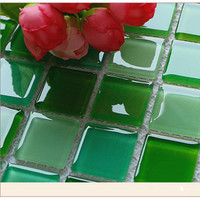 turquoise crystal glass mosaic tiles,300*300mm Crystal Glass Mosaic