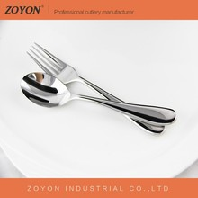 High quality mirror polish 18-10 stainless steel dessert spoon and fork