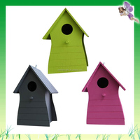 new cheap colorful wooden bird house