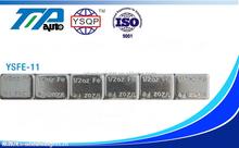 Fe roue adhésive masses d'équilibrage de Zinc plaqué 1 / 2 oz 150 mm * 19 mm * 4.8 mm