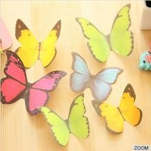 Creativo de la mariposa estereoscópica de pared pegatinas, hermoso papel etiqueta