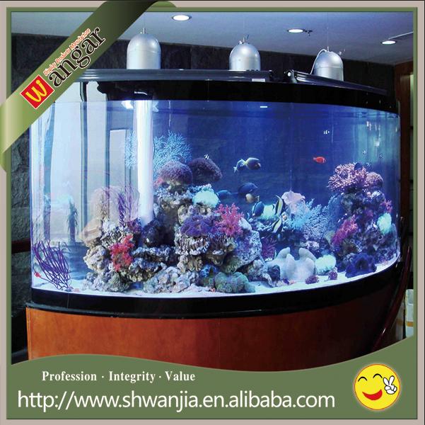 Grand r servoir de poissons acrylique grand cylindre for Grand bac a poisson