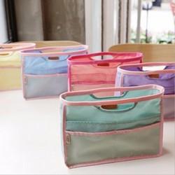Promotional Travel Nylon Cosmetic Bag Mesh Handbag Organizer