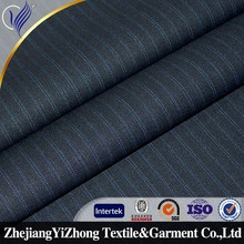 Stripe T/R/W fabric Plain Dyed wool suiting for mens wear