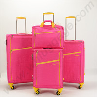 Durable 4 pieces set Colorful Nylon Luggage