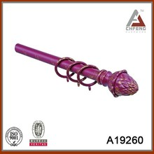 High quality&hot sell double curtain rod with iron art finial for export