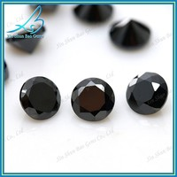 Lab created cubic zirconia round cut synthetic black diamond