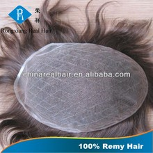 China Supplier Wholesale Double Drawn Remy Soft cheap toupee for men