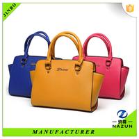 Popular trendy girls college pu leather tote handbag in alibaba china