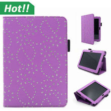 For Kindle Tablet PU Leather Diamond Bling Glitter Flip Folio leather Case