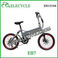 EB7 36v8.8ah front disc brake electric folding bicycle