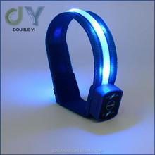 Customized led nylon led bracelet flashing bracelet with logo / nylon braided bracelets