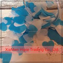Blue and white Biodegradable heart Confetti Eco Friendly Handmade paper confetti
