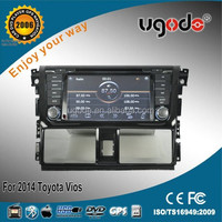 Wholesale 2014 hot model double din car dvd gps for toyota yaris gps navigation system