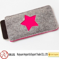 2015 new arrivals popular fashion look felt mobile phone cover